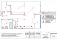 план сети электроосвещения