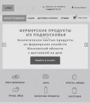 Прототип главной страницы интернет-магазина для планшета