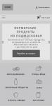 Прототип главной страницы интернет-магазина мобильная версия