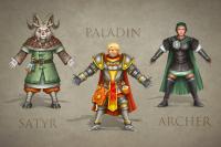 Концепты на 3 игровых персонажей ( фэнтези)