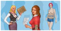 Три персонажа ( девушки) для одной из казуалок на стим