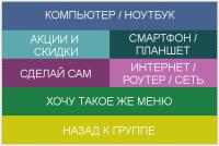 Создать меню для группы Вконтакте