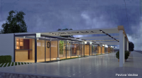 Проект улицы торговых павильонов