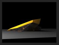 Первичный объемный эскиз к выставочному пространтву