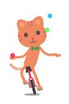 Circus cat motion