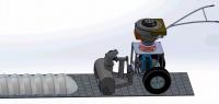 Визуализация работы малой коммунальной машины