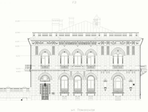 Отрисовка фасадов по фотографиям и обмерам