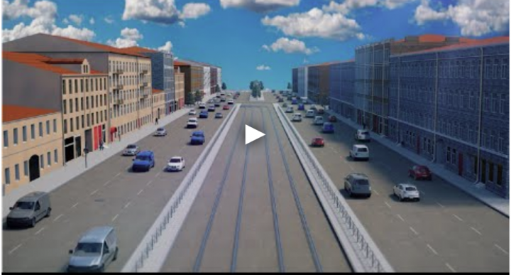 "Озвучивание видео презентации  ""3Д Визуализация улицы Питера - Г"