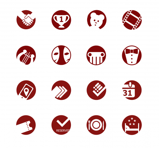 Набор иконок для сайта/презентаций Yclub