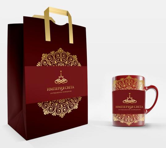 Разработка дизайна пакета и чашки