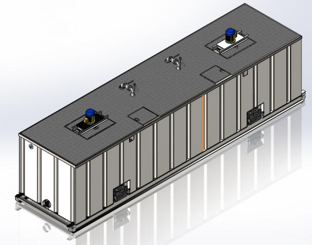 Визуализация Блока хранения бурового раствора