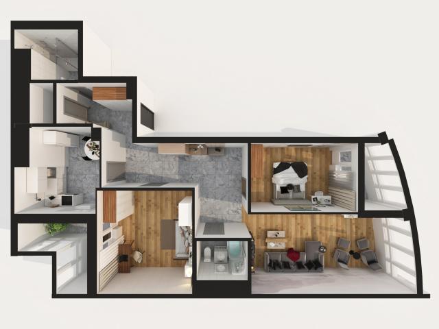 3д план квартиры
