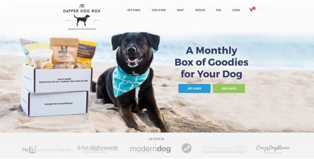 Landing Page для реализации подарков для собак