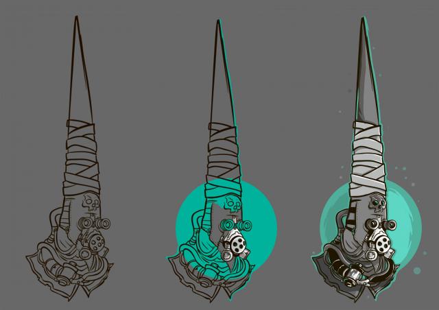 Концепт арт персонажа 2D