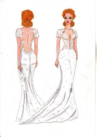 Эскиз для свадебного салона