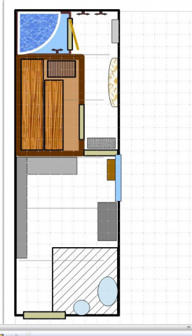 план размещения бани в подвальном помещении