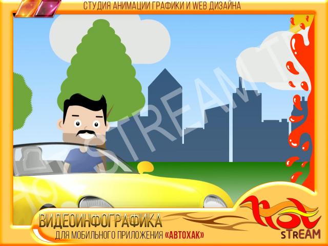 ВИДЕОИНФОГРАФИКА Анимационный ролик для АВТОХАК