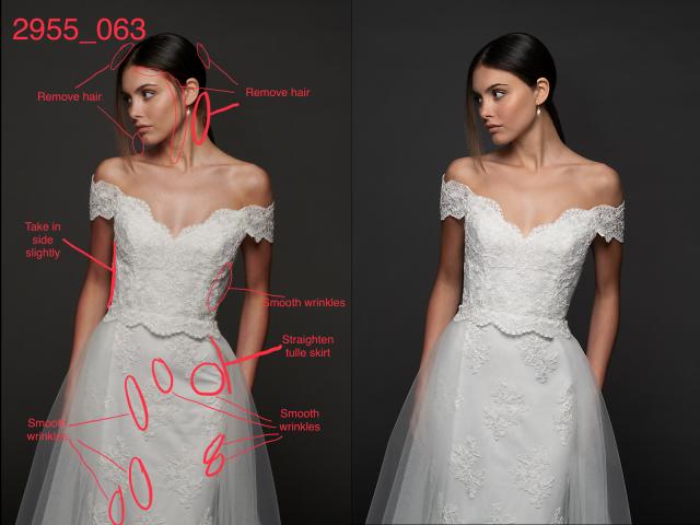 Ретушь и  пластика для коллекции свадебных платьев
