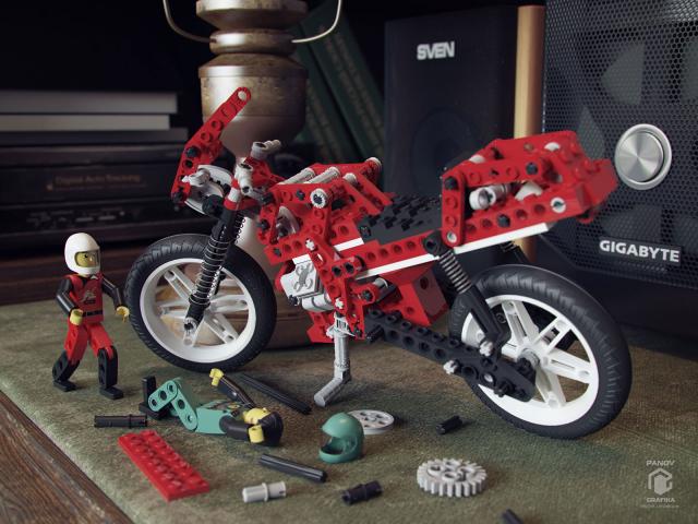 Натюрморт мотоцикл