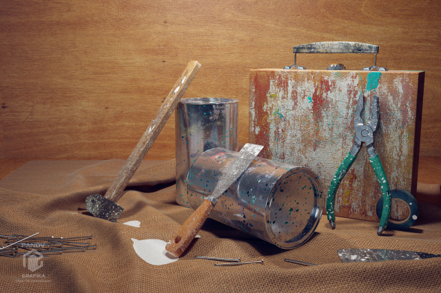 Натюрморт инструменты