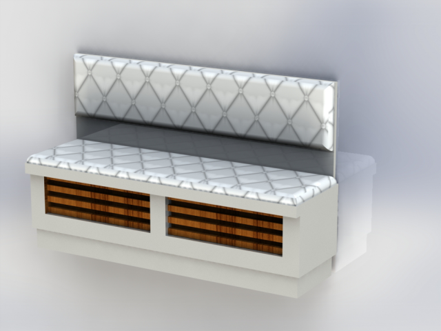 скамья - экран батареи