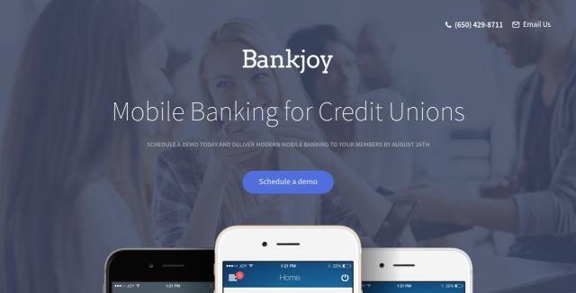 Верстка landing page для BankJoy