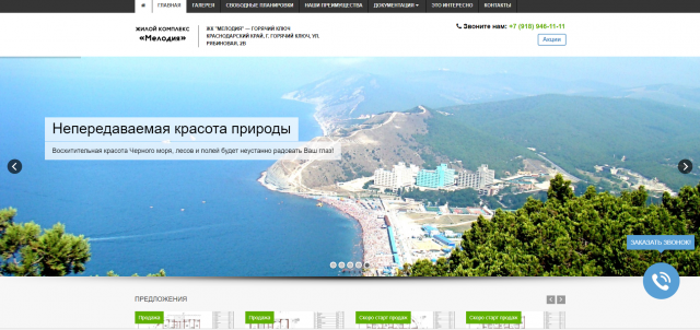 Создание сайта компании-застройщика «Новоселье»