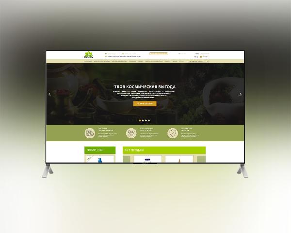 Дизайн интернет-магазина аюрведических товаров