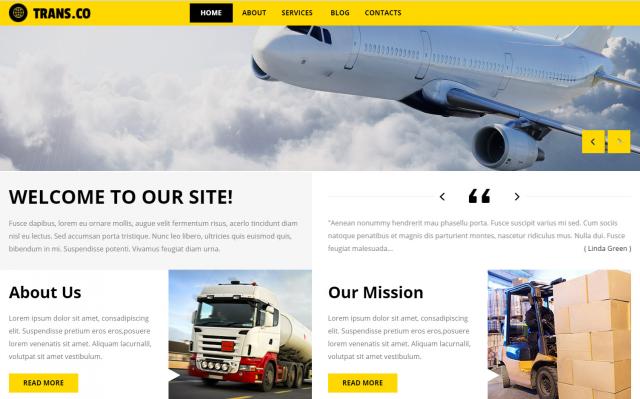 Создание корпоративного сайта логистической компании