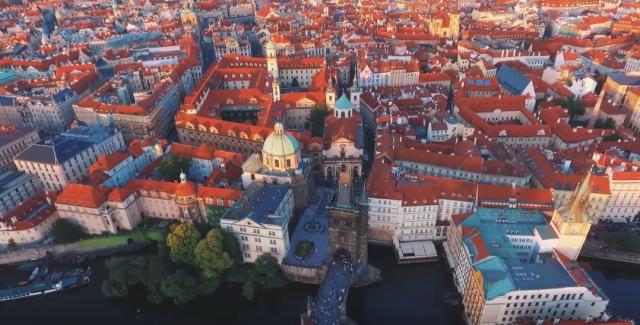 Аэросьемка дома в Праге