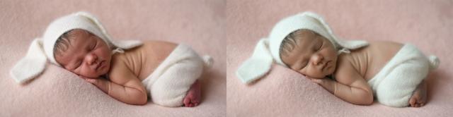 ретушь новорожденного
