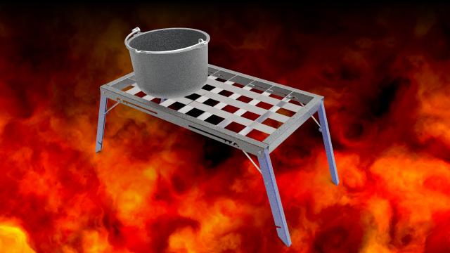 Костровая плита-мангал