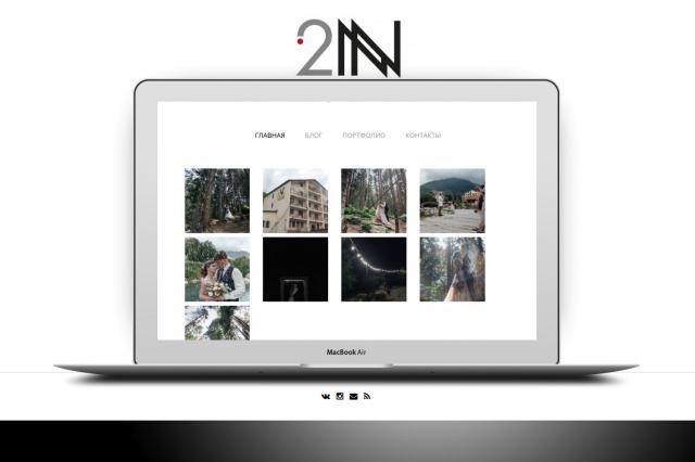 Сайт портфолио для фотографа