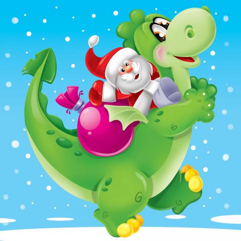 Дед мороз на драконе