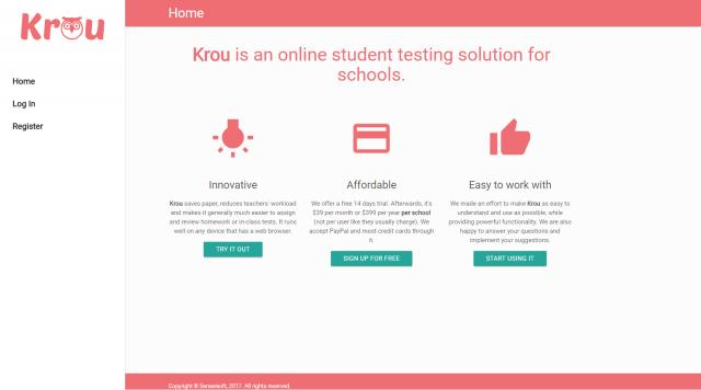 Разработка сервиса Krou