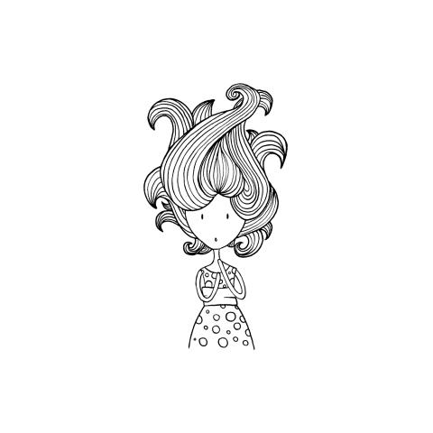 Девушка (line-art)