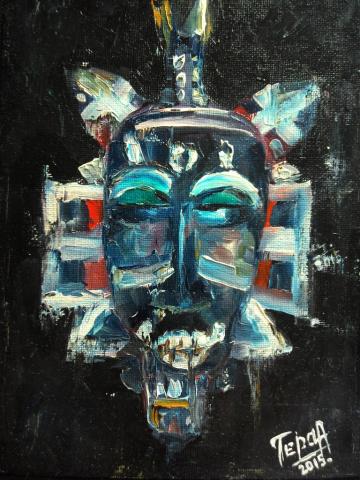 Этническая маска культуры чёрной Африки