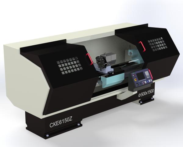 3D модель станка ЧПУ
