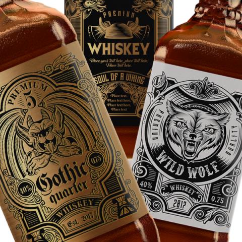 Дизайн этикеток Виски