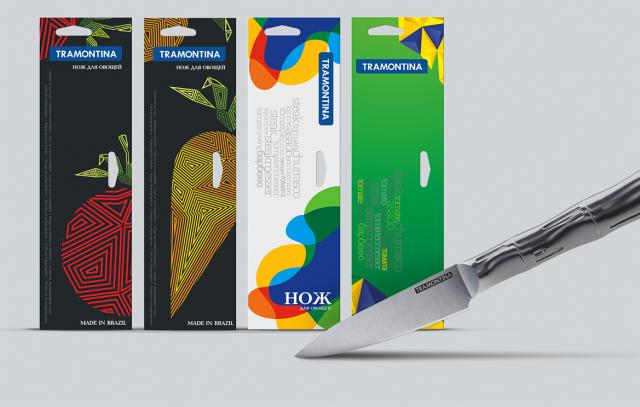 Серия упаковок для ножей. Тип упаковки - блистер