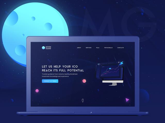 Moon Gang (landing page design)