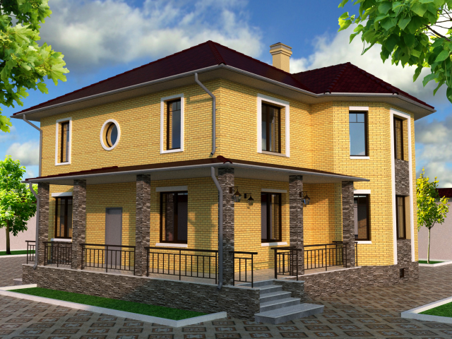 Визуализация частного дома