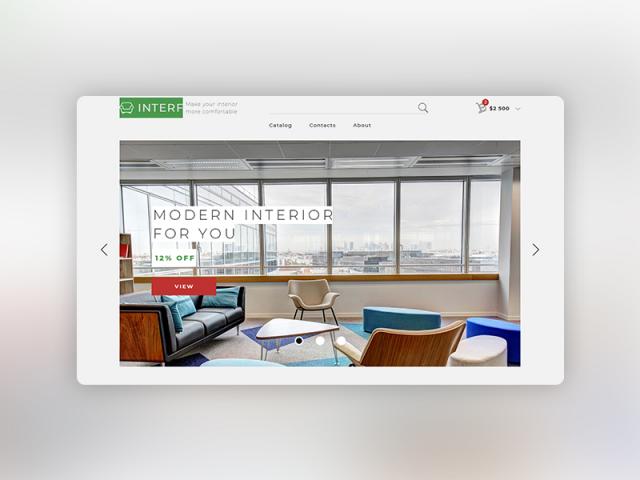 Магазин мебели (Landing Page)