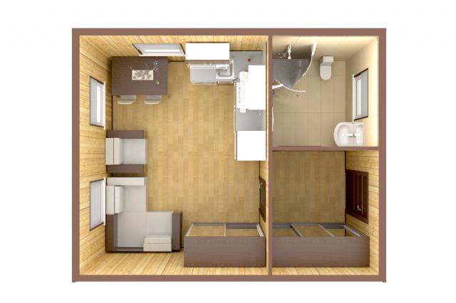 План помещения в 3d