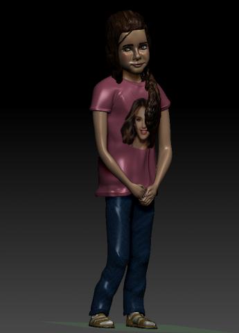 фигурка девочки для 3Д печати
