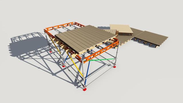 Элемент конструкции Пляжного комплекса