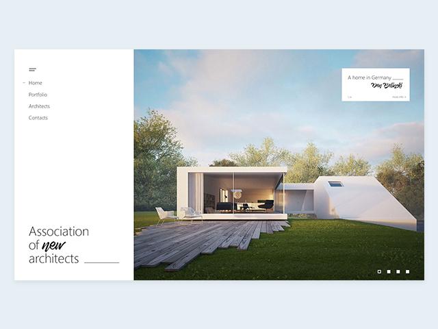 Сайт для архитекторов (смотрите вложение)