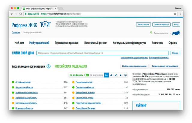 Парсер и сбор данных с сайта ЖКХ