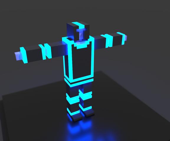 Voxel-art character