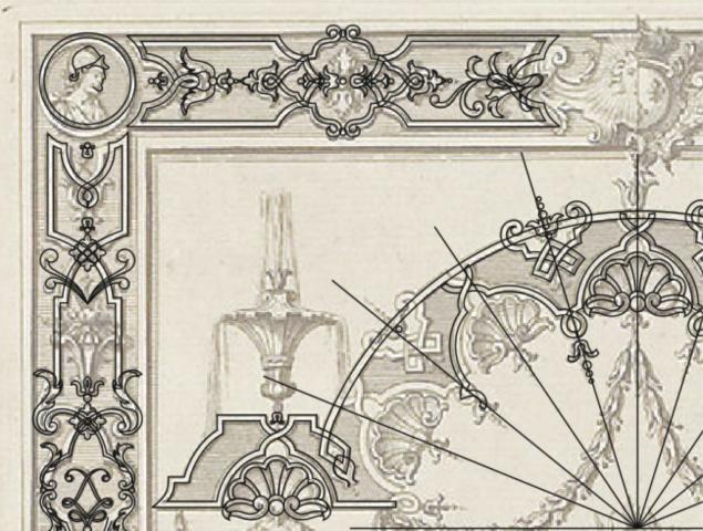 Ручная отрисовка орнамента в векторе. Процесс